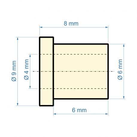 Kluzné ložisko pr. 4 mm