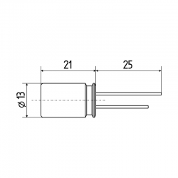 Superkondenzátor 10F / 2,7 V