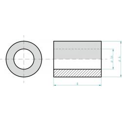 Distanční sloupek plastový 8 mm