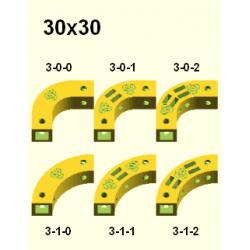 Obloukový díl Totem 30x30 mm