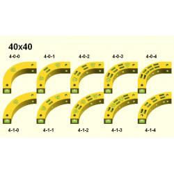 Obloukový díl Totem 40x40 mm
